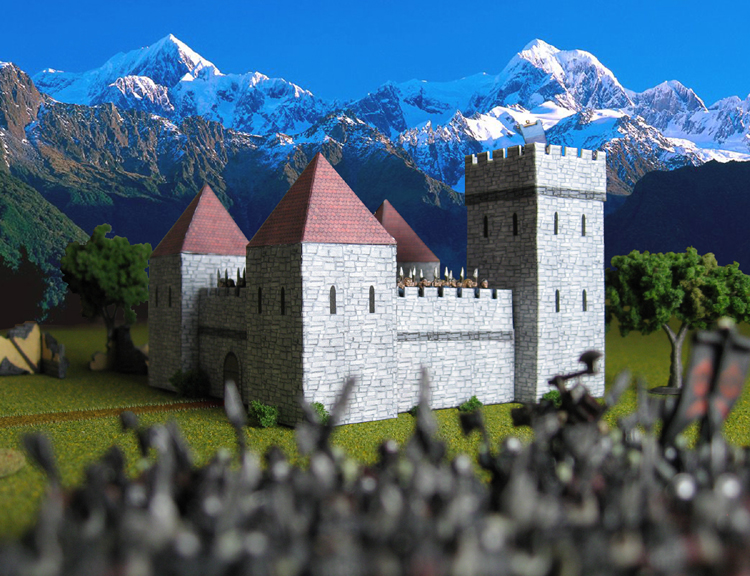 Castles 10mm scale card models [Toshach Miniatures]